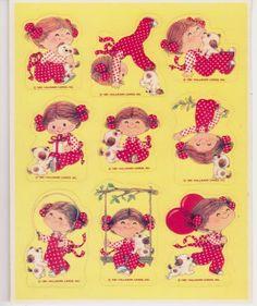 Hallmark Vintage Ruth Morehead Sticker Sheet  by RosiesStickers, $5.99