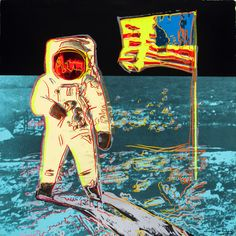 ANDY WARHOL (American, 1928-1987)Moonwalk, 1987 Screenprint in colors on Lenox Museum Board 38 x 38 inches (96.5 x 96.5 cm) Ed. 25/160 Printed signature lower right Signed and numbered by the executor of the Andy Warhol Estate, the publisher Ronald Feldman and the printer Rupert Jasen Smith, New York, on the authentication certificate on verso, with the printer's blindstampProperty from the Collection of Lois and Buzz Aldrinhttp://fineart.ha.com/itm/fine-art-painting/andy-warhol-americ...