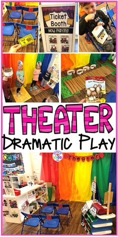 How to change the dramatic play center into a Fairy Tale Theater for a fairy tale theme or reading theme. #dramaticplay #pretendplay #preschool #prek #kindergarten Educational Activities For Toddlers, Fairy Tale Activities, Drama Activities, Preschool Themes, Kindergarten Activities, Fairy Tale Theme, Fairy Tales, Dramatic Play Centers, Play Centre