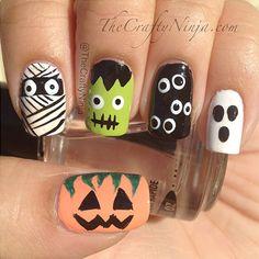 Ideas para que en #Halloween puedas lucir unas uñas terroríficamente fascinantes.   Encuentra los mejores esmaltes y accesorios para tu Nail Art aquí--> www.almashopping.com  #NailtoInspiration #uñas #UñasDecoradas #NailPolish #belleza #style #Cute #Pretty  #esmalte #manicure #nailartaddict #instanailart #instanails #nailspolish #uñaslindas #cutenails #weloveyournailart #uñas #fashionnails #vitral #colors #diy #diyalma #halloween #trendynails