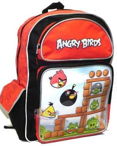 """""""I want that one. Don't show me any more. """" Angry Birds Lenticular Large Backpack Bag 16"""""""