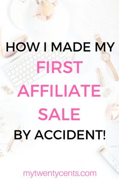It is my third month blogging and I made my first affiliate sale! Read this article to find out exactly how I did it and learn tips on how you can make money blogging too!