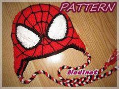 Spiderman crochet hat PATTERN