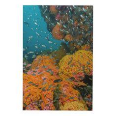#fishing - #Fish Among Coral Reef Wood Wall Decor