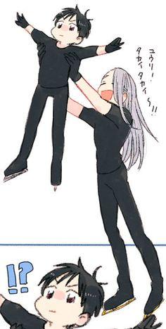 Yuuri is like: Da fuq Bikutoru put meh down https://www.pixiv.net/member_illust.php?mode=manga&illust_id=60974677