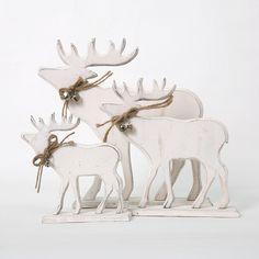 Wood Reindeer Figurine