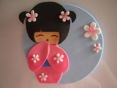 Mi Kokeshi - Her Crochet Diy Arts And Crafts, Fun Crafts, Crafts For Kids, Felt Dolls, Paper Dolls, Japanese Party, Japanese Doll, Happy Anniversary Cakes, Disney Diy Crafts