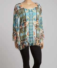 Tiny Roses Fringe Tunic - Plus by Sienna Rose #zulily #zulilyfinds