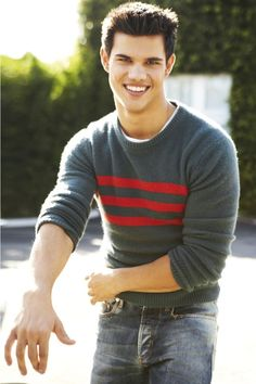 Taylor Lautner going out to bike ride