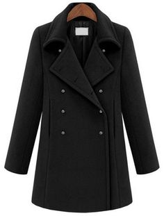 Fast Shipping World wide  Black Lapel Long Sleeve Metal Buttons Coat   Fashion4you - Clothing on ArtFire