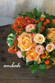 I like this for a color scheme for a garden Beautiful Flower Arrangements, Floral Arrangements, Beautiful Flowers, Fall Flowers, Orange Flowers, Flora Design, Gum Paste Flowers, Floral Photography, Flower Boxes