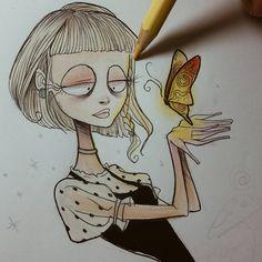 Tim Burton Drawings Style, Tim Burton Sketches, Tim Burton Art Style, Amazing Drawings, Cool Art Drawings, Art Sketches, Arte Tim Burton, Desenhos Tim Burton, Arte Disney