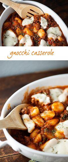 Easy and healthy dinner recipe: Gnocchi Casserole!
