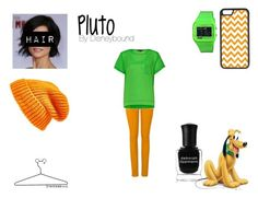 """Pluto"" by lunalynch13 on Polyvore featuring French Connection, Topshop, Electric Eyewear, CellPowerCases, Deborah Lippmann and Disney"