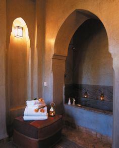 Imagine stepping through that archway into a steaming hot bubble bath by candle light ... perhaps a glass of bubbly in hand.