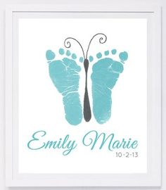Baby footprint art, forever prints by hand and footprint Keepsake for kids or babies. Mother's Day, New Mother, Nursery Art Baby In loving memory - Baby & Kleinkind - Baby Diy Mothers Day Crafts For Kids, Fathers Day Crafts, Crafts With Baby, Baby Feet Crafts, Ideas Scrapbook, Baby Footprint Art, Handprint Art, Baby Handprint Ideas, Baby Footprints