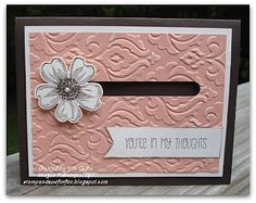 Stamp and Sew For Fun: Open Stamp Night, Flower Shop Spinner Card, Stampin' Up!
