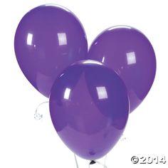 Quartz+Purple+Latex+Balloons+-+OrientalTrading.com
