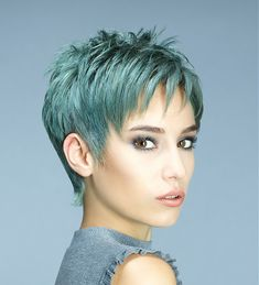 Sanké Short Green Hairstyles