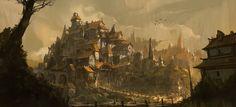 ArtStation - Fantasy Village, Steve Wang