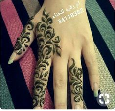 Floral Henna Designs, Arabic Henna Designs, Modern Mehndi Designs, Mehndi Designs For Girls, Mehndi Designs For Fingers, Beautiful Henna Designs, Henna Tattoo Designs, Henna Ink, Henna Mehndi