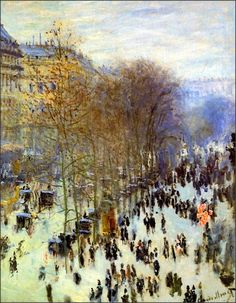 Boulevard of Capucines -  Claude Monet, 1873