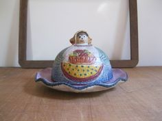 New Item! Vintage Italian Ceramic Covered Cheese Dish-Italy Mod Dep...Reshopgoods by Reshopgoods on Etsy