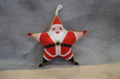 Peyote Santa Star-Medium by AnnanootsTreasures on Etsy