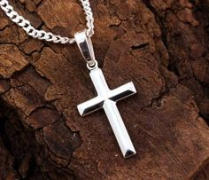 Lutos Fashion Plated Stainless Steel Cross Necklace Rhinestones Cross Pendant Necklace Jewelry for Men Women