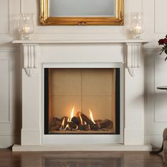 gas fireplace insert in existing fireplace - Google Search
