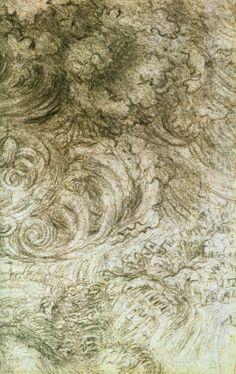 Leonardo study of wind, fluids, and plants as phenomena of nature. Kandinsky, Renaissance Artists, Leonardo Da Vinci Renaissance, Godfather Movie, Water Drawing, Art Diary, A Level Art, Botanical Drawings, Artist Profile