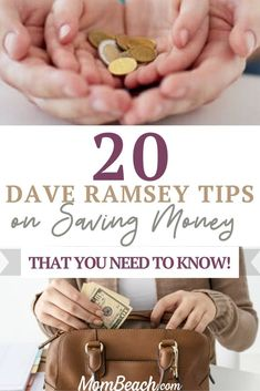 """Are you are looking for money saving ideas to help you save money and stay on top of your personal finances? Then it is worth reading Dave Ramsey's book """"The Total Money Makeover"""" where he outlines Baby Steps to help you build a strong financial foundation for you and your family. My husband and I also took Dave Ramsey's Financial Peace University at church awhile back. Dave Ramsey tips are pure gold!"""
