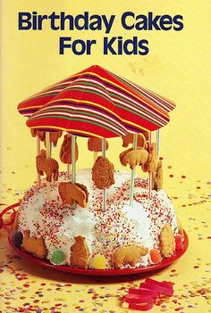 Birthday Cakes For Kids (1986)  Love the carousel cake!    #Carousel #cake #animals
