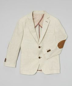 Look at this #zulilyfind! Tan Linen-Blend Blazer - Toddler & Boys by Isaac Mizrahi #zulilyfinds