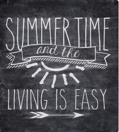 Summertime and the Living is Easy Free Chalkboard Printable Chalkboard Doodles, Kitchen Chalkboard, Chalkboard Lettering, Chalkboard Designs, Chalkboard Quotes, Chalkboard Printable, Chalkboard Ideas, Summer Chalkboard Art, Chalkboard Easel