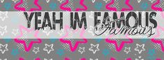 Get our best I Am Famous facebook covers for you to use on your facebook profile. If you are looking for HD high quality I Am Famous fb covers, look no further we update our I Am Famous Facebook Google Plus Tumblr Twitter covers daily! We love I Am Famous fb covers!