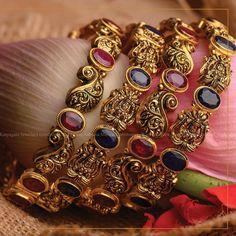 Gold Bangles Design, Gold Jewellery Design, Gold Jewelry, Bridal Jewellery, Indian Gold Jewellery, Fancy Jewellery, Ruby Jewelry, Latest Jewellery, Diamond Jewellery