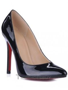 88cbb3a552b Black Patent Leather Pointed Red Bottom Womens Pumps