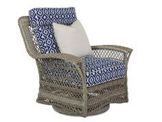 Klaussner Outdoor Outdoor/Patio Willow Swivel Glider Chair