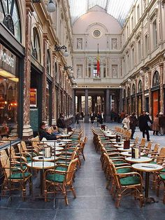 Galeries Royales St Hubert, i.e. the oldest arcades in Brussels, Belgium