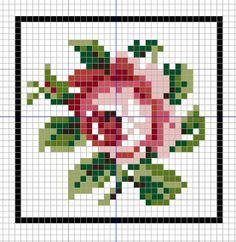 Rose cross stitch chart