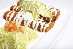 Crab and Avocado Enchiladas Recipe.