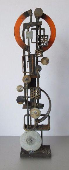 FRANK COTA CALIFORNIA METAL GEOMETRIC MODERN ABSTRACT INDUSTRIAL POP SCULPTURE
