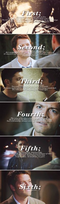 Dean + Castiel: Five things you know & one thing you don't #spn #destiel