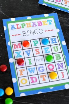 Grab this Free Printable Alphabet Bingo Game to use with your preschoolers or young kids. Fun and helps them learn the alphabet!