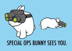 Speical Ops Bunny teefury.com