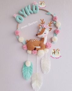 Felt Crafts Diy, Diy Crafts For Gifts, Baby Crafts, Baby Diy Projects, Sewing Projects, Craft Projects, Baby Mobile, Felt Baby, Baby Art