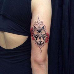 O lobo combina perfeitamente com as Rosas