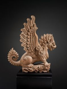 Singha Lion Mythical Beast 10917 Bali, Indonesia Wood Early 20th Century…