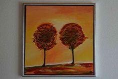 Burning trees Acryl 50x50